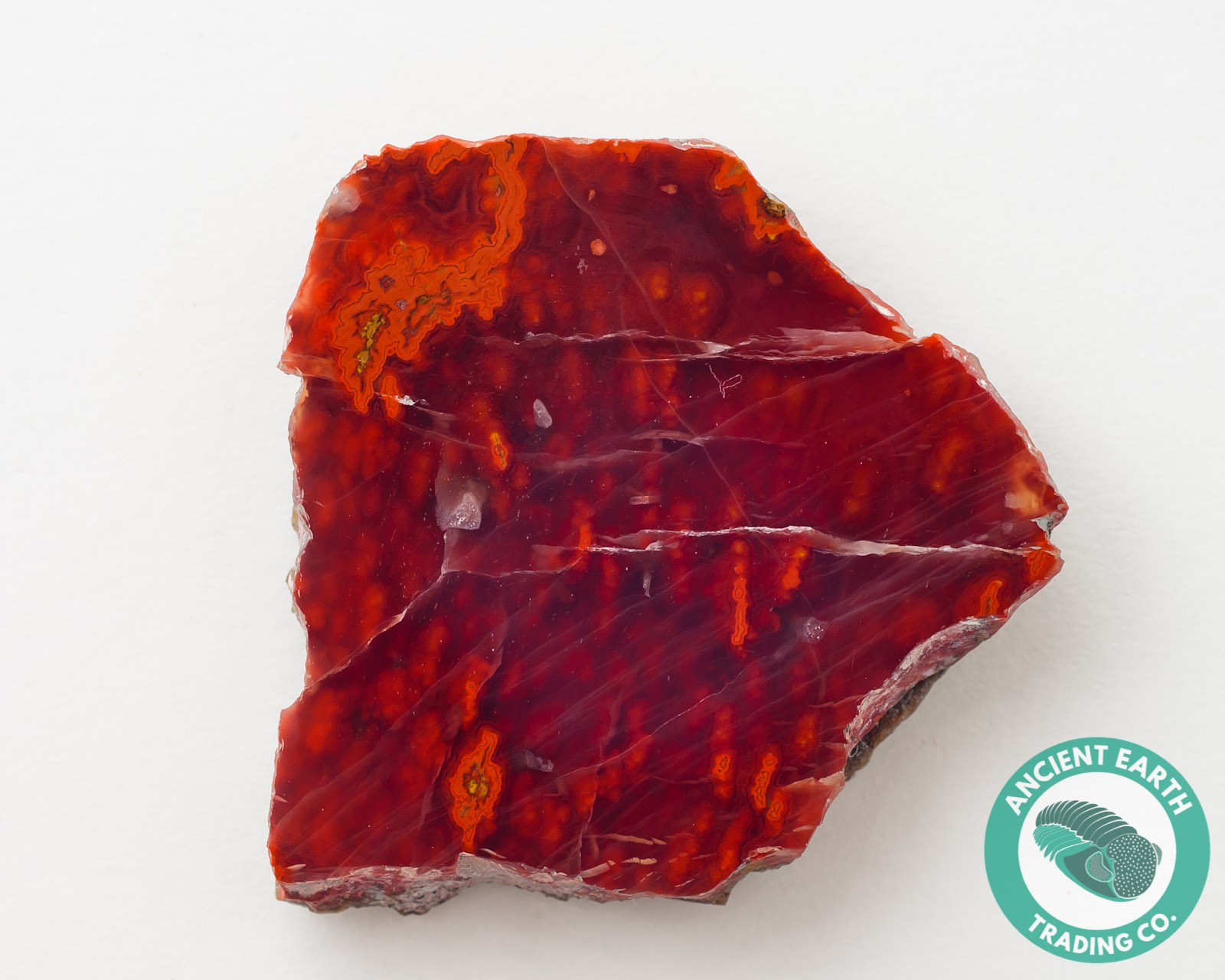 1.5 in Long Cut Vein Agate from Kerrouchene, Morocco