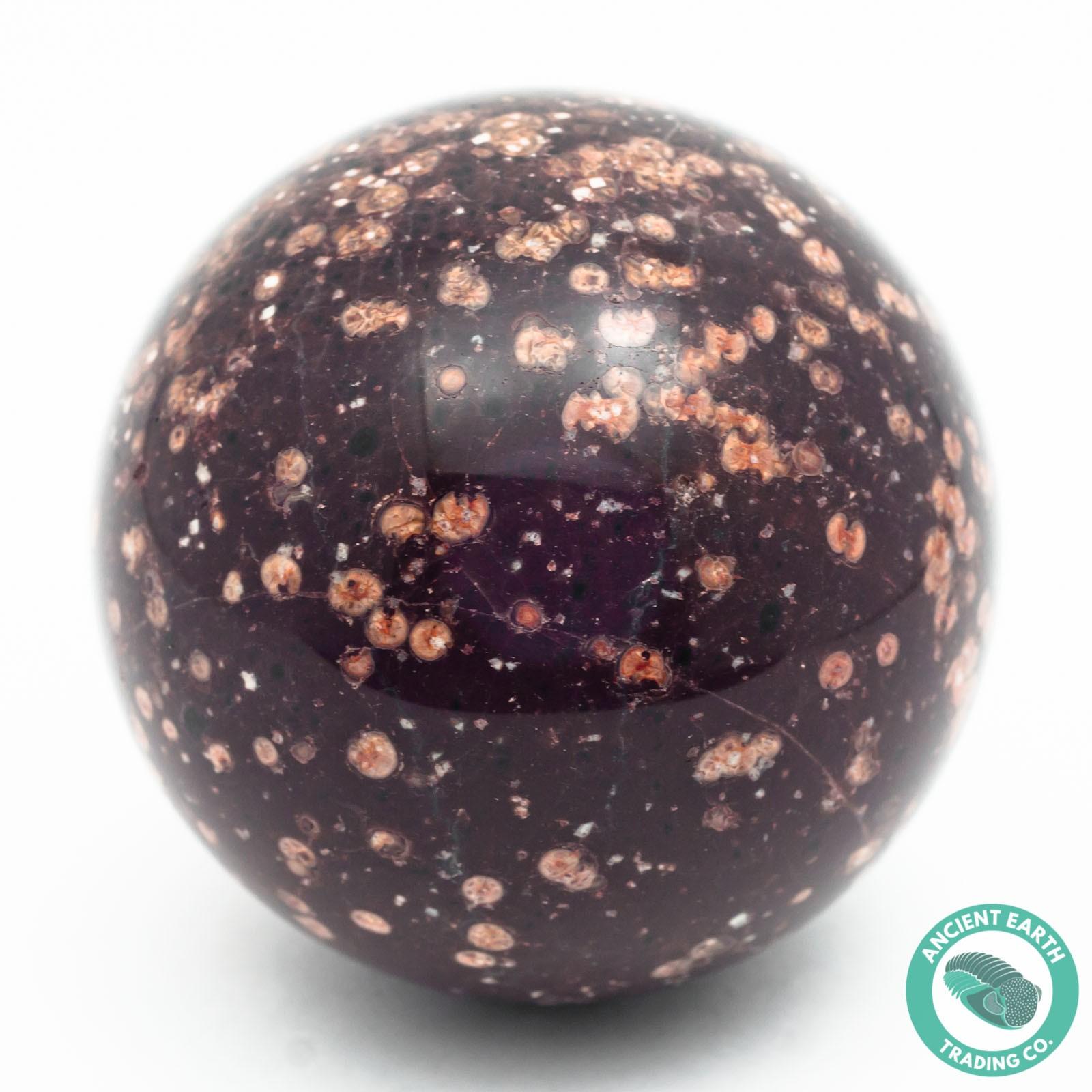 71.6 mm Opal Mountain Chocolate Rhyolite Sphere