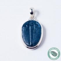 27 mm Fossil Elrathia Trilobite Silver Pendant from Utah