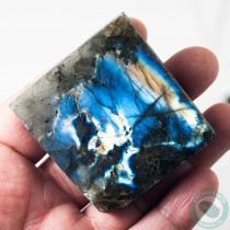 2.2 in Labradorite Face Polished Electric Blue Iridescence