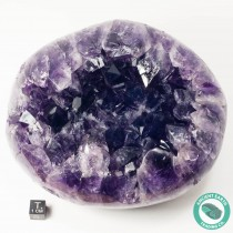5.62 in Huge Amethyst Crystal Cluster Orb Polished Sides - Uruguay