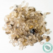 1/2 Pound Tumbled Golden Rutilated Quartz Crystals