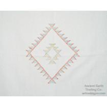 White Moroccan Sabra Silk Flatweave Kilim