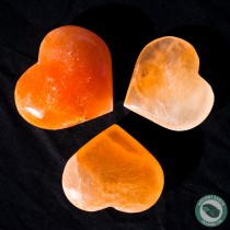 Red Selenite Heart 6 cm. 2.36 in.