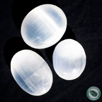 Selenite Palm Massage Stone 5 cm. 2 in.
