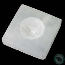 Polished Selenite Square Single Tealight Candle Holder