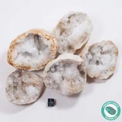 "3-4"" Sugar Quartz Crystal Geode - Morocco - 3 Pack"