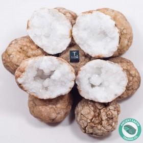 "2"" Unbroken Quartz Crystal Geode - 10 Pack - Morocco"