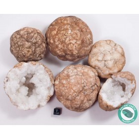 "3-4"" Unbroken Quartz Crystal Geode - Morocco"