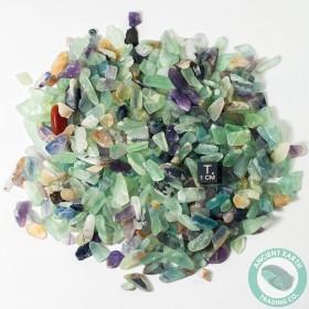 1/2 Pound Tumbled Fluorite Green Purple Crystals
