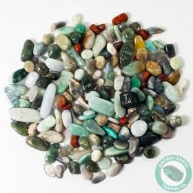1/2 Pound Tumbled Mix Quartz Jasper Agate Quartz Crystals
