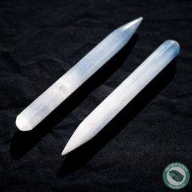 Thin Selenite Massage Wand 16 cm. 6.3 in.