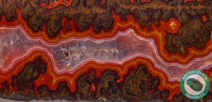 2.9 in Banded Fire Flame Vein Agate from Kerrouchene, Morocco