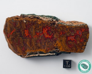 4.15 in Large Vein Flame Agate - Morocco