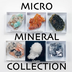 6 Micro Mineral Crystal Collection #1