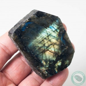 2.39 in Labradorite Face Polished Green Gold Iridescence