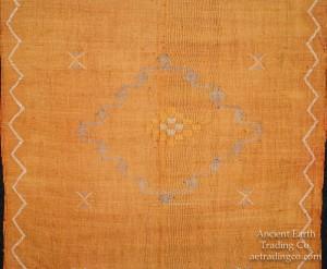 Gold Moroccan Sabra Silk Tribal Flat Weave Throw