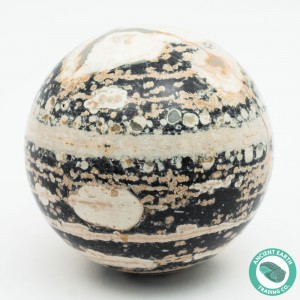 88 mm Opal Mountain Geode Rhyolite Sphere